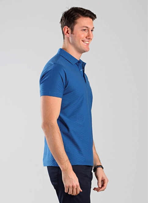 Kip Polo Yaka Tişört Mavi